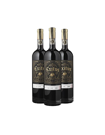 2017 Exitus Bourbon Barrel Aged Red Wine 3 Btl Pack